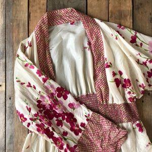 Anthropologie Kimono Robe L